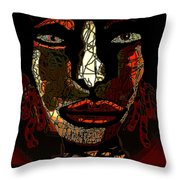 Chameleon Throw Pillow by Natalie Holland