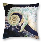 Chameleon Tail Throw Pillow