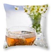 Chamomile Tea Throw Pillow
