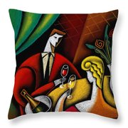 Champagne And Love Throw Pillow