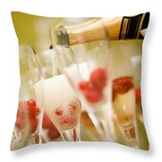 Champagne Throw Pillow by Kati Molin