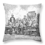 Champagne Production, 1855 Throw Pillow