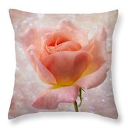 Champagne Rose. Throw Pillow