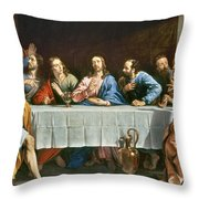 Champaigne: Last Supper Throw Pillow
