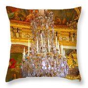 Chandelier At Versailles Throw Pillow