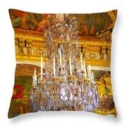 Chandelier At Versailles Throw Pillow