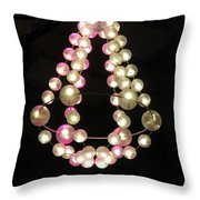 Chandelier From Pearls Throw Pillow