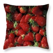 Chandler Strawberries Throw Pillow