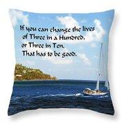 Change A Life Throw Pillow