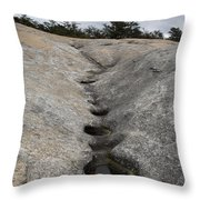 Channel Eroded By Water Throw Pillow