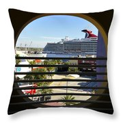 Channelside Tampa Art Deco Throw Pillow