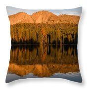 Chaos Crags Reflecting Throw Pillow