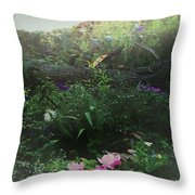 Chaos In Morning Mist Throw Pillow