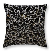 Chaos Of Stacked Metal Fencing Throw Pillow