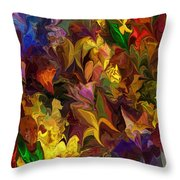 Chaotic Canvas Throw Pillow