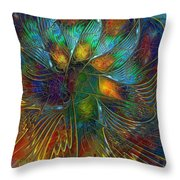 Chaotic Colour Throw Pillow