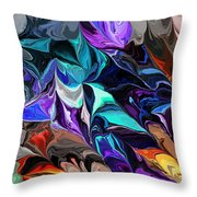Chaotic Visions Throw Pillow