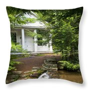 Chapel At Hickory Run State Park Throw Pillow