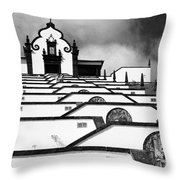 Chapel In Azores Throw Pillow