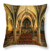 Chapel In Dordogne France Throw Pillow