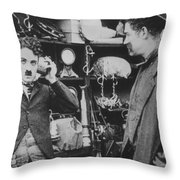 Chaplin: The Pawnshop Throw Pillow