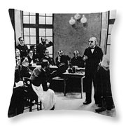 Charcot Demonstrating Hysterical Case Throw Pillow
