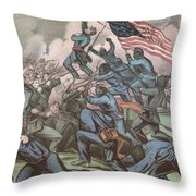 Charge Of The 54th Massachusetts Throw Pillow