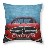 Charger Art By My Son Throw Pillow
