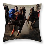 Rodeo Chariot Race Throw Pillow