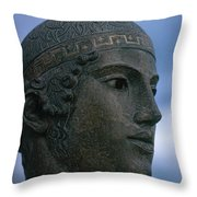 Charioteer Of Delphi Throw Pillow by Photo Researchers
