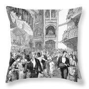 Charity Ball, 1880 Throw Pillow by Granger