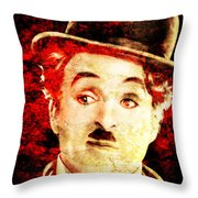 Charles Chaplin Throw Pillow