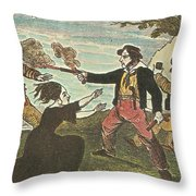 Charles Gibbs, American Pirate Throw Pillow by Photo Researchers