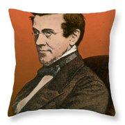 Charles Wheatstone, English Inventor Throw Pillow