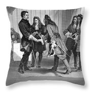 Charles Xii And Stanislas I Throw Pillow
