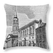 Charleston, 1857 Throw Pillow