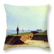 Charleston Battery, 1864 Throw Pillow
