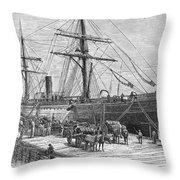Charleston: Cotton Ship Throw Pillow