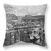 Charleston: Cotton Wharf Throw Pillow