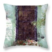 Charlestons Windowbox Throw Pillow by Donna Bentley