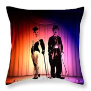Charlie And Marilyn Throw Pillow