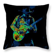 Playing Psychedelic Blues At Winterland In 1975 Throw Pillow