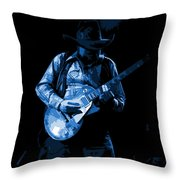 Playing The Blues At Winterland In 1975 Throw Pillow
