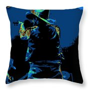 Winterland Cosmic Fiddler Throw Pillow