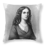 Charlotte Von Schiller Throw Pillow by Granger