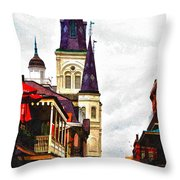 Chartres Street - New Orleans Throw Pillow