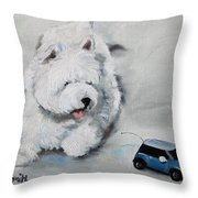 Chasing Cars Throw Pillow