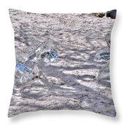 Chasing Snowflakes Throw Pillow