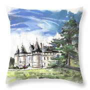 Chateau De Chaumont In France Throw Pillow
