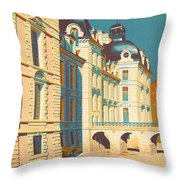 Chateau De Cheverny Throw Pillow by Georgia Fowler